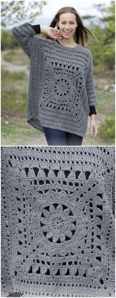 Magic Square Sweater Free Crochet Pattern
