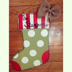 Stocking Door Hanger by FortSturgeon on Etsy