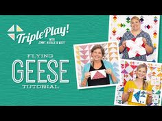 Triple Play: 3 Flying Geese Projects with Jenny, Natalie & Misty of Missouri Star (Video Tutorial) - YouTube Missouri Star Quilt Tutorials, Quilting Tutorials, Msqc Tutorials, Quilting Tips, Quilting Projects, Missouri Quilt, Flying Geese Quilt, Star Quilts, Mini Quilts