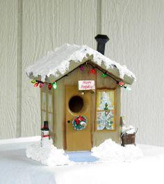 Christmas birdhouse in white 2012 by kirakoktysh.com | 27 ...