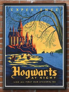 Harry Potter Retro Hogwarts Poster Art Film Poster Movie. Harry Potter Hogwarts Retro Poster Art on a high quality poster. Perfect gift for a Harry Potter fan. Affiliate