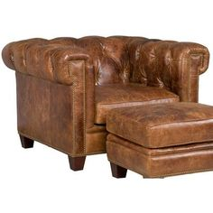 Stationary Arm Chair | Wayfair Leather Club Chairs, Leather Chesterfield  Chair, Leather Furniture,