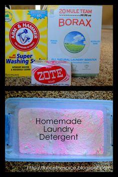 ThriceTheSpice: DIY Powder Laundry Detergent, and Fabric Softener