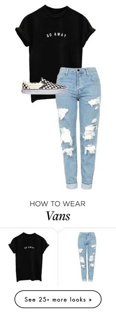 """""""./.../.../.../..././..."""" by anna-mae-equils on Polyvore featuring Topshop and Vans"""