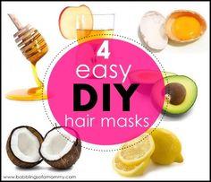4 Easy DIY Hair Masks For Gorgeous Hair