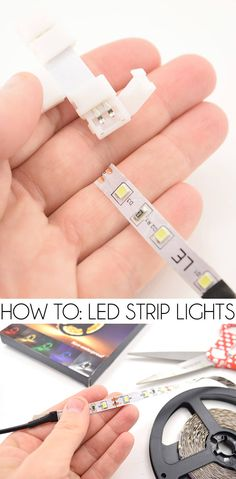 LED Strip lights are so cool but how do you use them? See exactly how they work and what you need to add these to your craft and DIY projects!Tips & Tricks Archives ⋆ Dream a Little BiggerChristine Cutter pooshoneypot DIY decor LED Strip lights are s Garage Lighting, Bedroom Lighting, Strip Lighting, Lighting Ideas, Club Lighting, Led Bedroom Lights, Kitchen Lighting, Led Diy, Diy Led Light