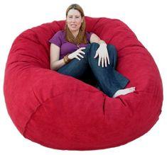 Cozy Sack 5-Feet Bean Bag Chair, Large, Cinnabar