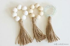 Wooden Bead Napkin Rings #woodenbeads #napkinrings #beads