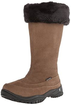 Baffin Women's Allie Insulated Suede Winter Boot,Taupe,9 M US * Visit the image link more details.