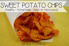 Sweet Potato Chips - Oven or Microwave on MyRecipeMagic.com #chips #sweetpotato #snack #healthy