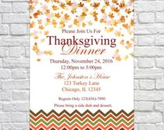 Thanksgiving Invitation Thanksgiving Invites by SugarPickleDesigns