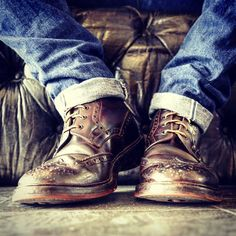 lifestylestudies: 14 oz. worn in. #Trickers boots worn for 4 years.