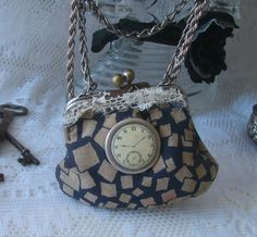 Vintage 1940s Coin Purse Necklace Steampunk by NewEnglandVintage