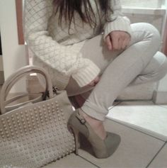 Taupe Outfit - Warm and Girly for Fall