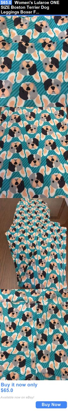 Women Leggings: Womens Lularoe One Size Boston Terrier Dog Leggings Boxer French Bulldog BUY IT NOW ONLY: $65.0