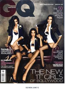 Myla on the cover of GQ India.