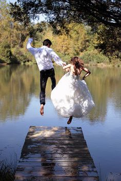 great shot if your are doing a trash the dress shoot