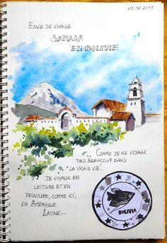 BB-Aquarelle: Voyage imaginaire en Bolivie / Imaginary trip to B...