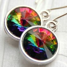 Earrings Handcrafted of Rainbow Vitrail Swarovski Crystal... review | buy, shop with friends, sale | Kaboodle