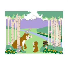 @rosenberryrooms is offering $20 OFF your purchase! Share the news and save!  Bears & Butterflies Paint by Number Wall Mural #rosenberryrooms