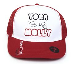Check out our new product! Yoga Is My Molly Trucker Hat by Naked Truth Yoga Inc. is just one of their great new Yoga Apparel products! Yoga Clothing, Yoga Teacher Training, New Product, Naked, Consciousness, Hats, Vancouver, Shopping, Accessories