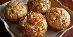 Cinnamon-Apple Muffins - Quick simple easy Dash Diet breakfast idea