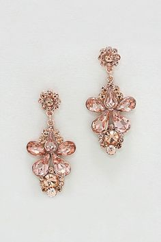Aria Earrings in Rose Crystal. I think I just want rose gold everything.
