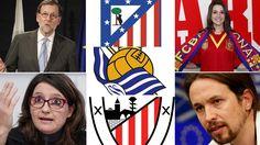 ¿De qué equipo son los políticos españoles? | Marca.com http://www.marca.com/futbol/2017/04/29/59048866268e3e1d598b4611.html