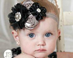 Baby headbandNewborn HeadbandChristmas by ThinkPinkBows on Etsy