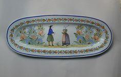 Old Quimper Pottery - rare fish platter