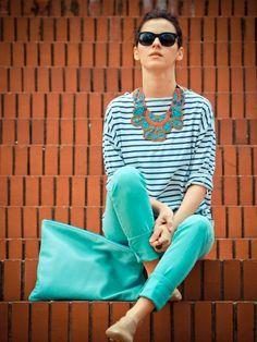 las rayas y el azul no pasan de moda!