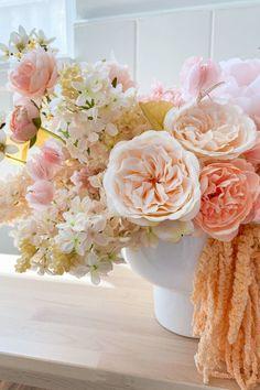 Spring Flower Arrangements, Floral Centerpieces, Spring Flowers, Wedding Centerpieces, Wedding Bouquets, Wedding Flowers, Spring Home Decor, Lilacs, Faux Flowers