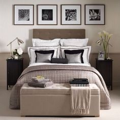30 Welcoming Guest Bedroom Design Ideas | Decorative Bedroom - like the photos above the bed
