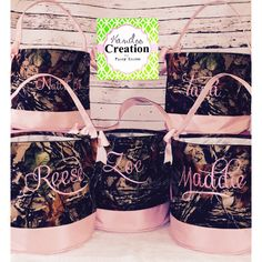 Personalized Pink & Camo Easter Totes by Funkykandoo! Find us on Instagram and Facebook
