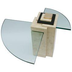 1stdibs | Maitland Smith Occasional Table Stellar union, quarter circle glass