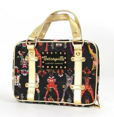 Betseyville By Betsey Johnson Paper Dolls Designer Makeup Tote Cosmetics | Health & Beauty, Makeup, Makeup Bags & Cases | eBay!