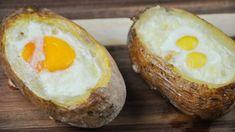 Oua coapte in cartofi, reteta rustica, foarte usor de facut 🏠 Casuta Laurei Romania, Baked Potato, The Creator, Eggs, Breakfast, Ethnic Recipes, Morning Coffee, Egg, Baked Potatoes