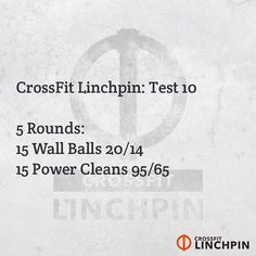 "I programmed 12 different workouts which are called ""The Linchpin Dirty Dozen"". They will simply be labeled as Tests 1 through 12. The goal is to use these 12 tests as an assessment. If you perform all twelve you will get an excellent idea of your strengths as well as areas which need improvement. They will be released sporadically and are separate from the Linchpin workout of the day. #CrossFit"