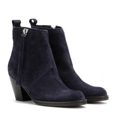 mytheresa.com - Pistol Short felt-lined suede ankle boots - Shoes - Acne Studios - Luxury Fashion for Women / Designer clothing, shoes, bags