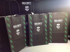 10 Call Of Duty Ghosts Birthday Party Candy Bags by EpicEvent, $15.00