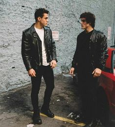 They look amazing in leather jackets.