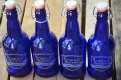 Personalized Glass Beer Bottles Make Great Gifts for Men! Each Bottle Has a Custom Engraved Label with Your Name, City, and State. Mason Jar Mugs, Drinking Jars, Beer Growler, Personalized Birthday Gifts, Home Brewing, Craft Beer, Gifts For Dad, Beer Bottles, Distillery