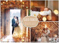 50 Gold Bokeh Photoshop Overlays by ElyseBear on Creative Market