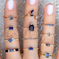 Sapphires come in so many hues of blue and our designers handcrafted them in so many unique styles! Which shade of blue. - CoinOku - Sapphires come in so many hues of blue and our designers handcrafted them in so many unique styles! Dainty Jewelry, Cute Jewelry, Gold Jewelry, Jewelry Rings, Jewelry Accessories, Women Jewelry, Fashion Jewelry, Sapphire Jewelry, Wedding Jewelry