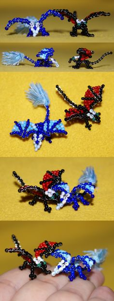 Beaded+dragons+-+Sam+and+Dreit+by+Samantha-dragon.deviantart.com+on+@deviantART