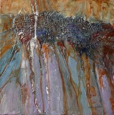 "Nancy Standlee Fine Art: ""Journey"" ~ Metals and Mixed Media Abstract ~ Contemporary Daily Paintings by Nancy Standlee"