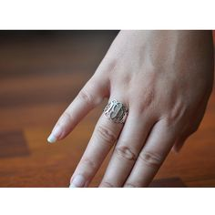 Sterling Silver Monogram Ring by SincerelyMePJD on Etsy, $54.95