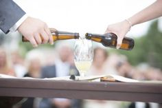 Cider Ceremony in lieu of the traditional wine, candle or sand unity ceremonies. Perfect for craft beer lovers! This post includes the narrative as well! Candle Lighting Ceremony, Unity Ceremony, Wedding Ceremony, Wedding Pins, Wedding Ideas, Wedding Stuff, Dream Wedding, Wedding Inspiration, Craft Beer Wedding
