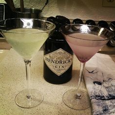 2 Hendrick's martini recipes. Lavender & cucumber. Yum!