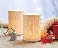 Chunky Cable Knit Pair #PartyLite #Knitting